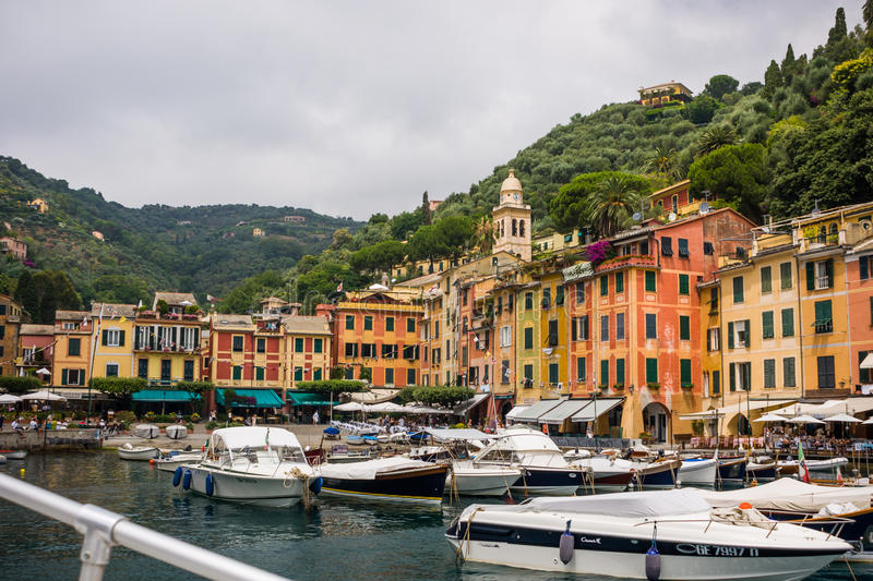 Colorful houses in the harbour royalty free stock photos