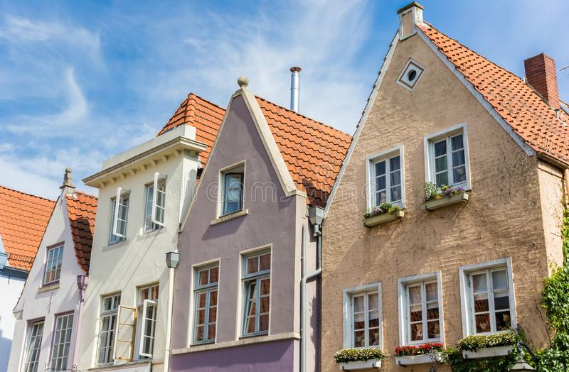 Colorful houses in the historic Schnoor district of Bremen. Germany royalty free stock photos