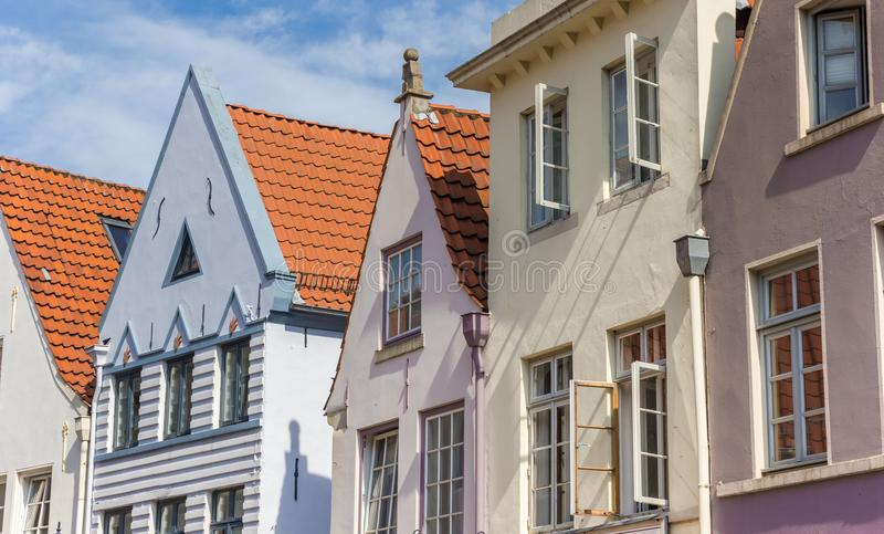 Colorful houses in the historic Schnoor district of Bremen. Germany stock photos