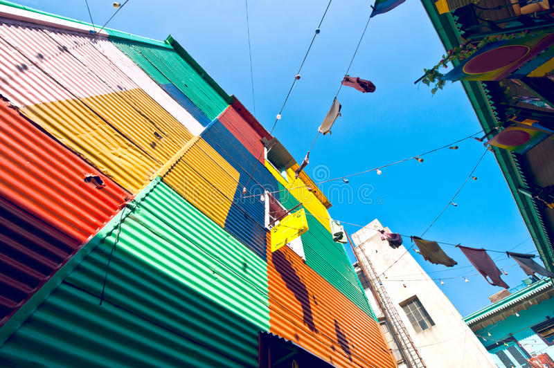 Colorful houses in La Boca, Buenos Aires. Argentina stock photos