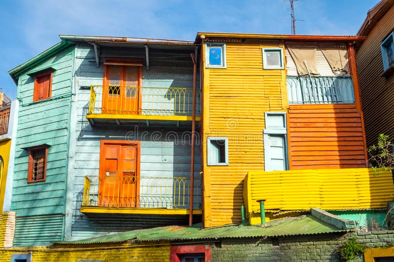 The colorful houses of La Boca. In Buenos Aires, Argentina royalty free stock image