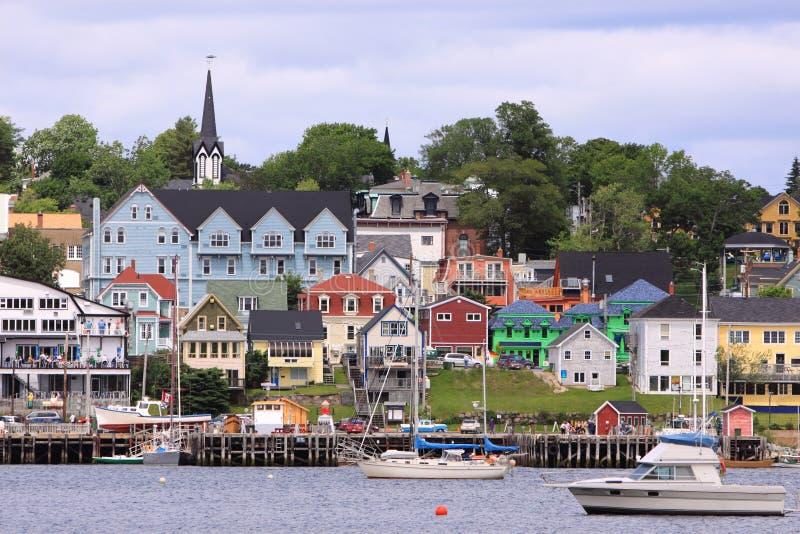 Lunenburg, Nova Scotia. The colorful houses in Lunenburg, Nova Scotia stock image