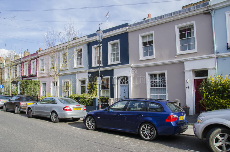Notting Hill Houses Editorial Stock Image