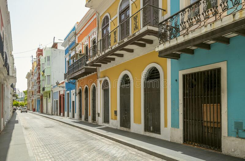 Colorful houses in San Juan, Puerto Rico. Colorful houses in old San Juan, Puerto Rico stock images