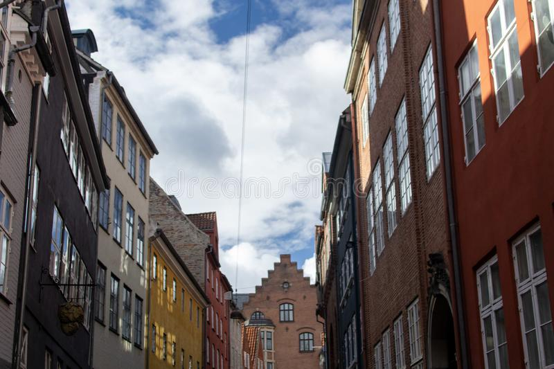 Magstraede`s colorful houses, Copenhague. stock photography