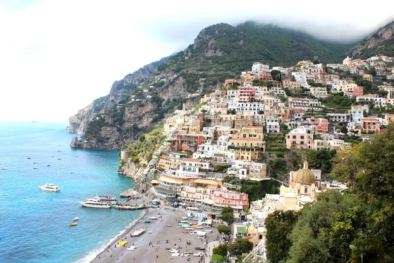 Best town in Amalfi Coast stock photo