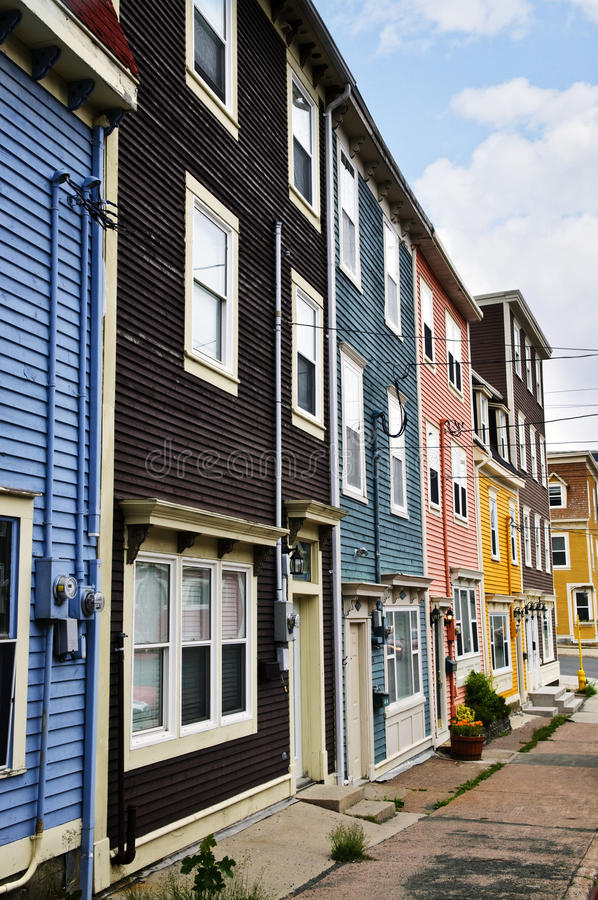 Download Colorful Houses In St. John's Royalty Free Stock Image - Image: 12088796