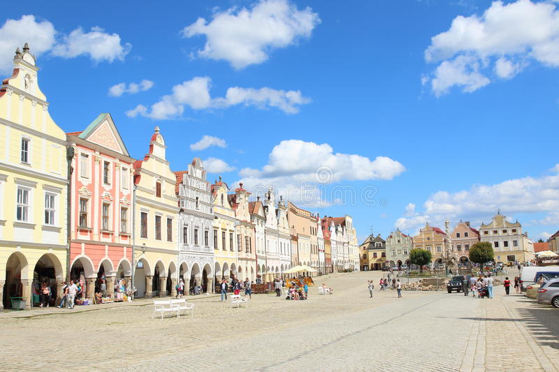 Colorful Houses, Telc stock image