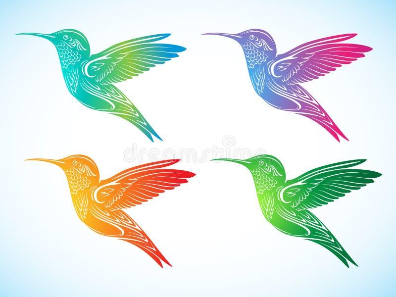 Download Colorful Hummingbirds stock vector. Image of motley, beak - 16080076