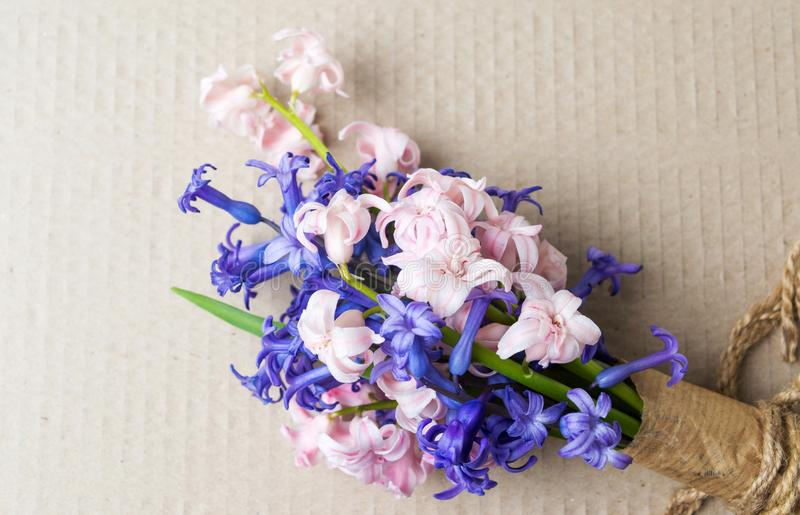 Hyacinth Flowers Bouquet On A Table Stock Photo - Image of bloom ...