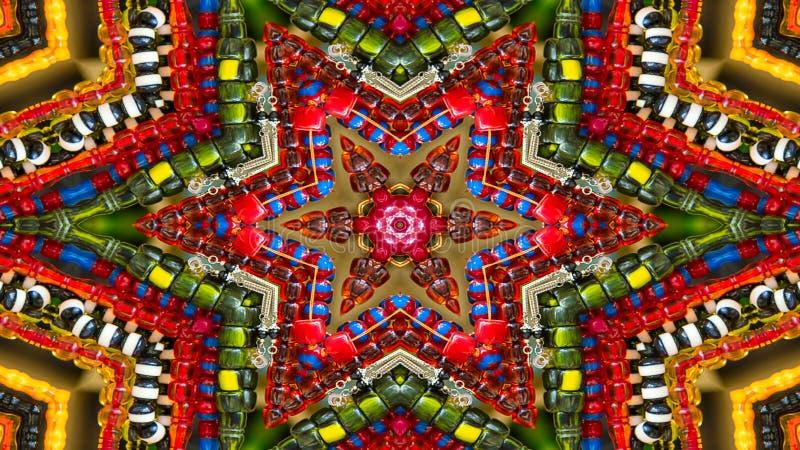 Colorful Hypnotic Symmetric Kaleidoscope royalty free stock photography