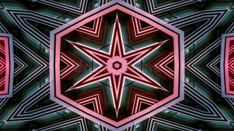 Colorful Hypnotic Symmetric Kaleidoscope stock photo
