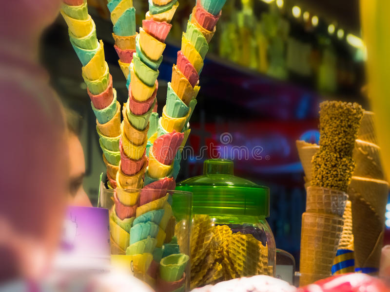 Download Colorful ice cream cone stock photo. Image of green, refreshment - 31104856