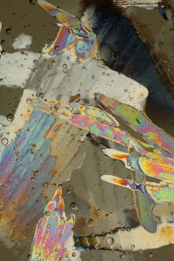 Colorful ice crystals stock images