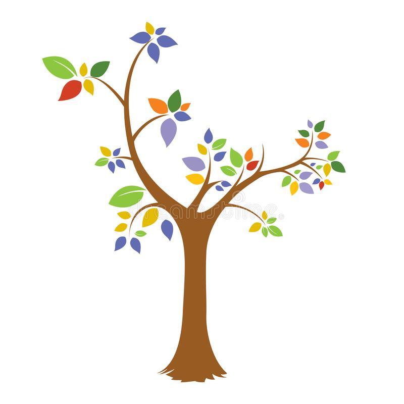 Colorful,icon,logo,tree,Colorful Tree Logo vector file eps. A colorful tree logo icon isolated in white background. Vector file layered for easy manipulation and royalty free illustration