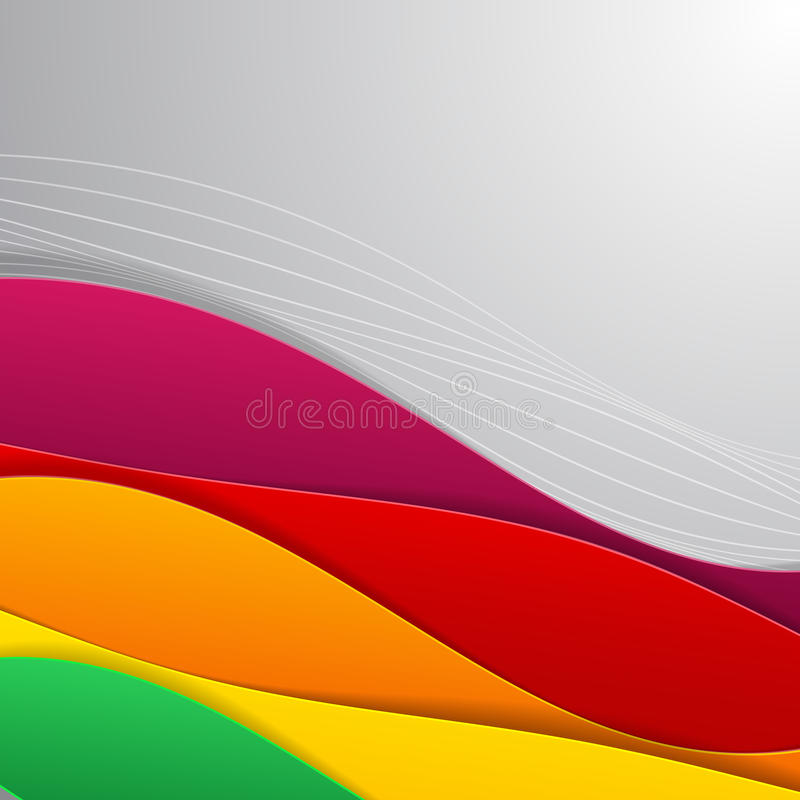 Colorful illustrated abstraction.