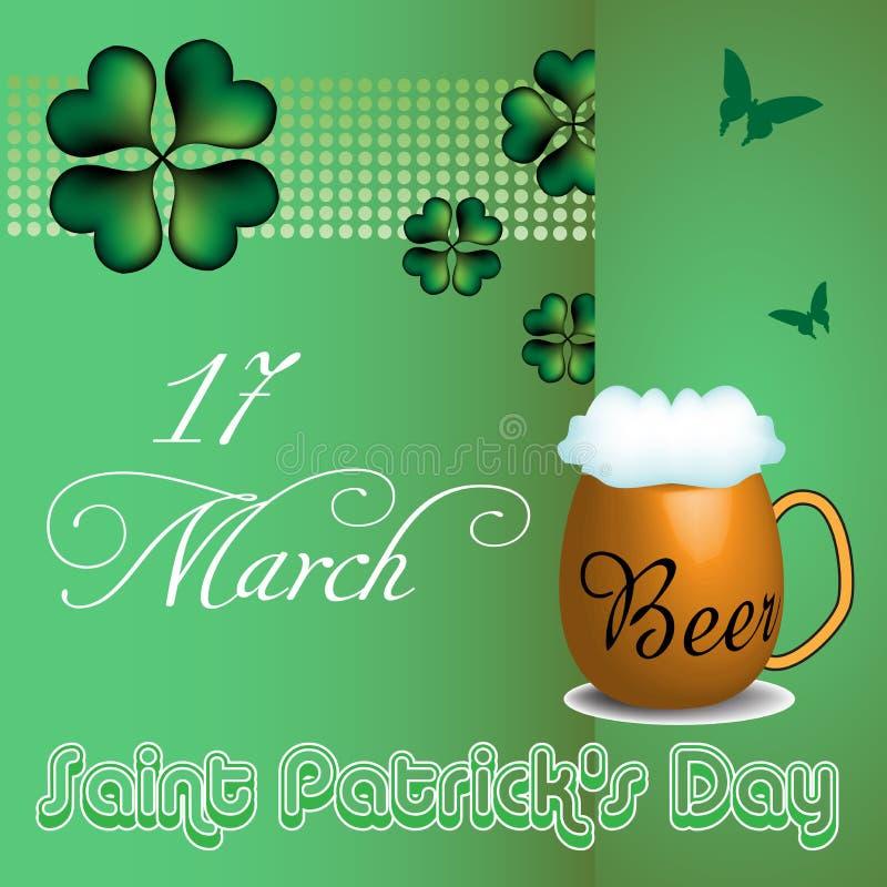 Saint Patrick`s day beer mug stock image