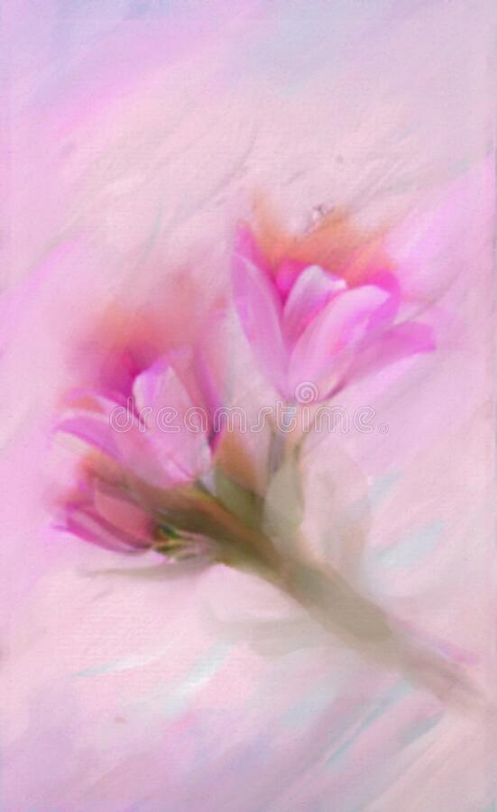 Free Colorful Illustration In Light Purple, Blue, Pink Spring Flowers - Crocus . Elegant Background. Royalty Free Stock Image - 177896936