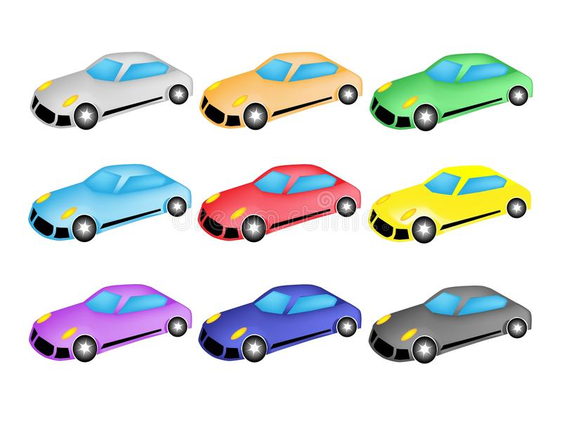 Download Colorful Illustration Set Of Sports Car Icon Stock Vector - Illustration: 29007316