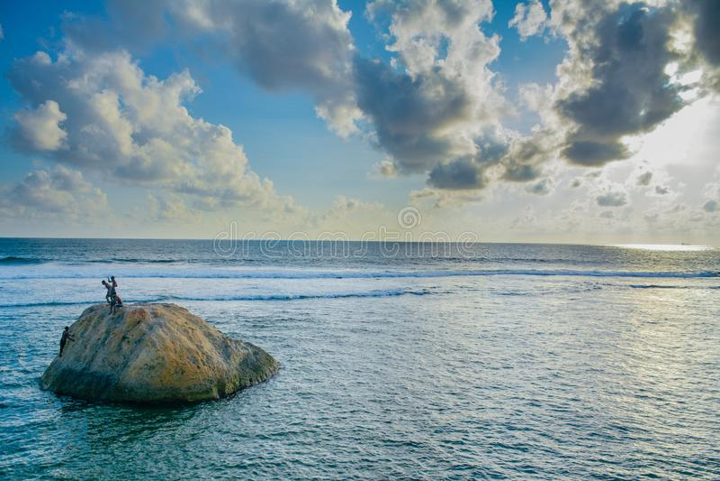 Ocean and Sky in Sri Lanka stock photo