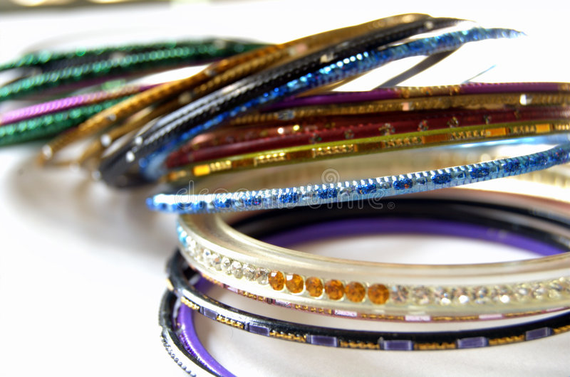 Colorful Indian Bangles royalty free stock photography