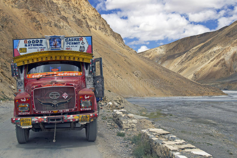 Download Colorful Indian Truck editorial stock image. Image of sarchu - 12558379