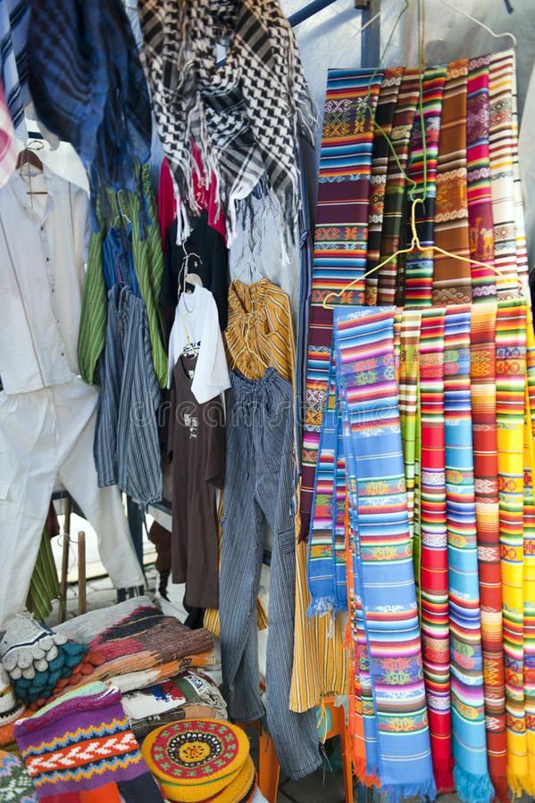 Download Colorful Indigenous Market Of Otavalo Stock Image - Image: 23712451