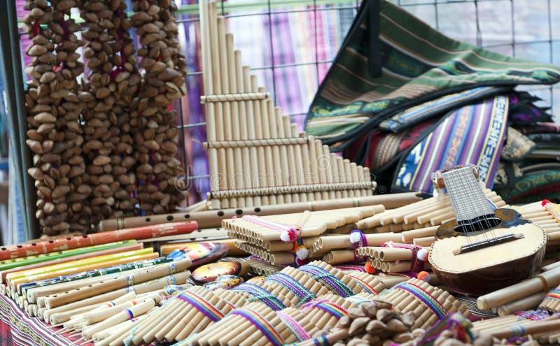 Colorful indigenous market of Otavalo