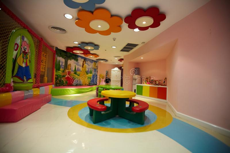 Colorful indoor playground. For kids royalty free stock photo