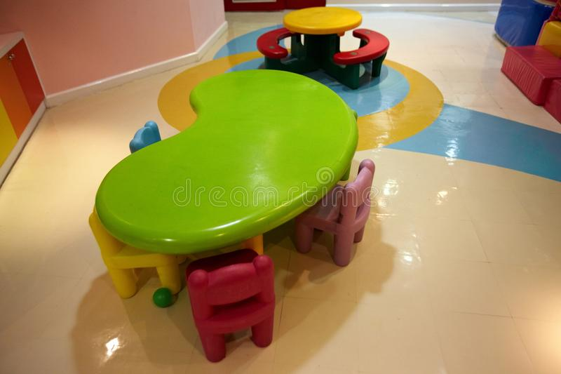 Colorful indoor playground. For kids stock photo