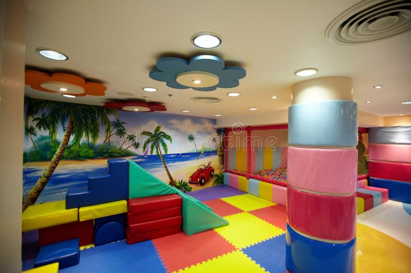 Colorful indoor playground royalty free stock photo