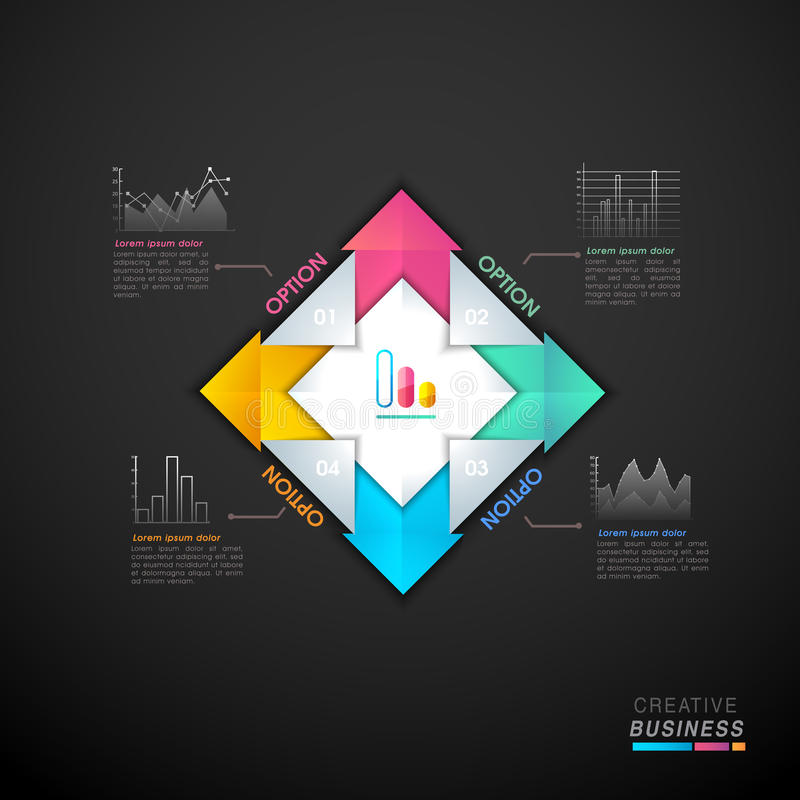 Colorful infographic element for Business. Glossy colorful paper infographic elements for your Business vector illustration