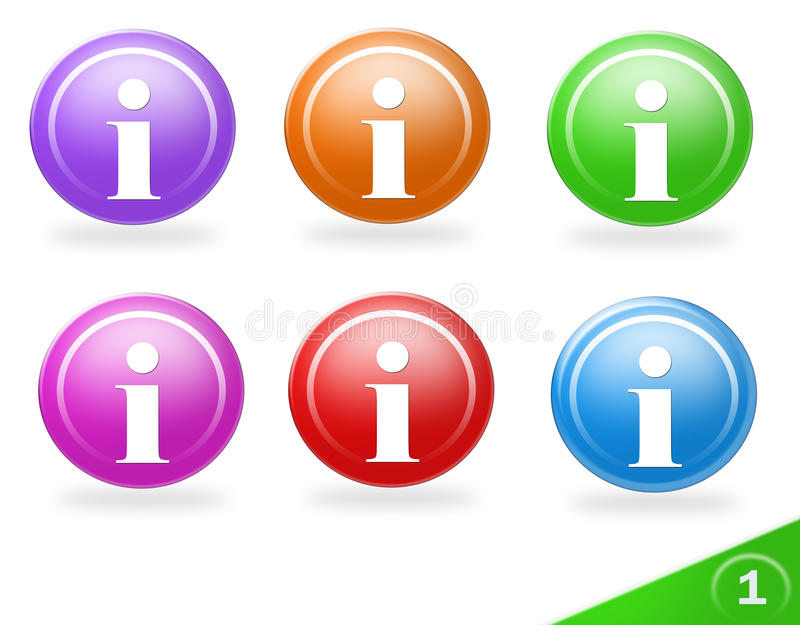 Colorful information icons vector illustration