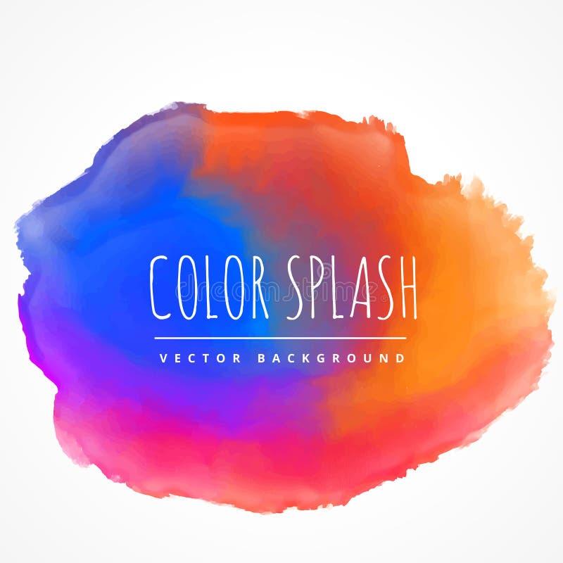 Colorful ink splash stain vector design illustration. Colorful ink splash stain vector design stock illustration
