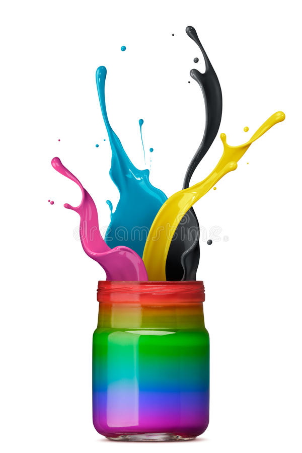 Download Colorful ink splashing stock illustration. Image of indigo - 25130521