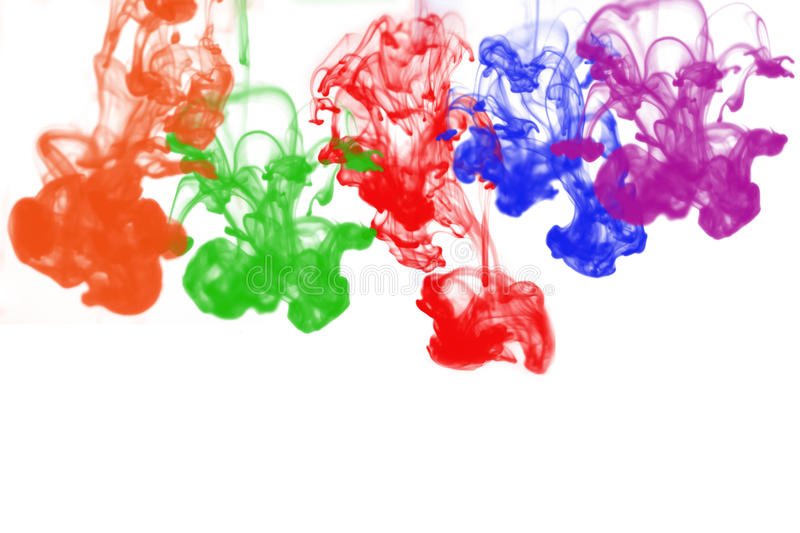 Colorful ink in water. Colorful ink drop in water royalty free illustration