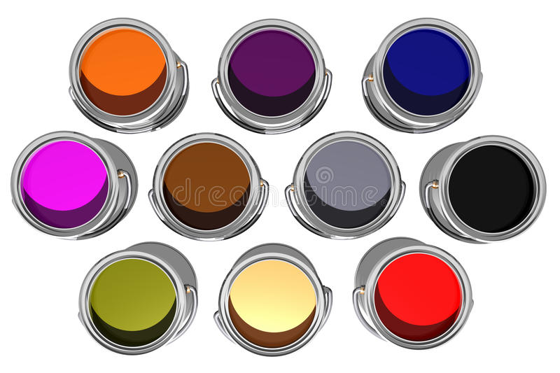 Download Colorful Inks Top View (3D) Stock Illustration - Image: 29177738