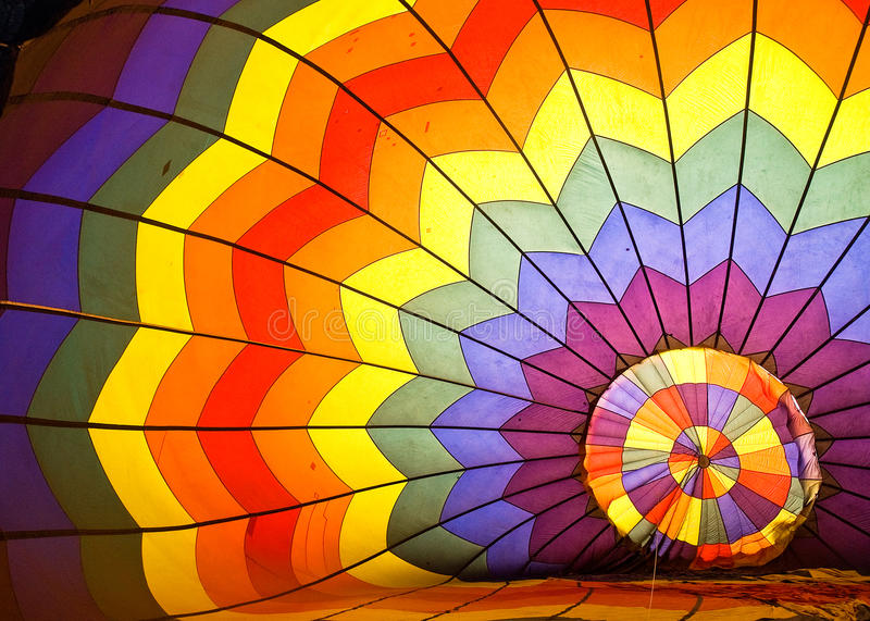 Colorful Inside Hot Air Balloon stock photo