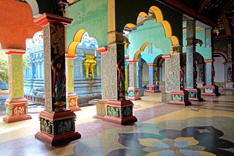 Colorful Interior Arches in Hindu Temple stock image