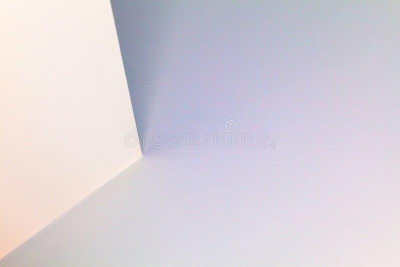 Colorful interior design with corner. Abstract architecture background, colorful interior design with illuminated corner stock image
