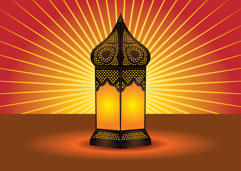 Download Colorful Intricate Islamic Floor Lamp Stock Vector - Image: 14571954
