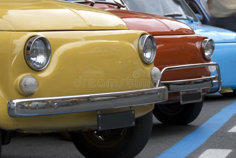 Colorful italian mini cars
