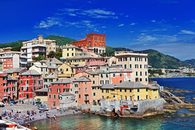 Genova, Liguria. Colorful Italy series - Genova, Liguria stock photos