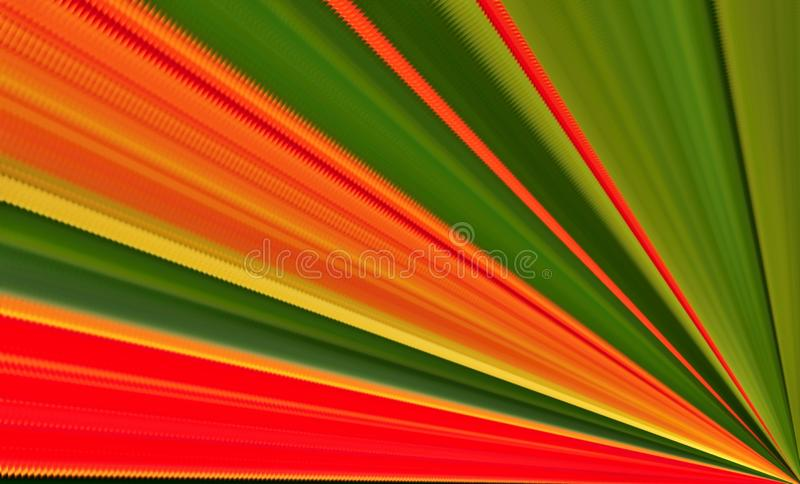 Colorful jagged rays. Green, orange, red, yellow royalty free stock images