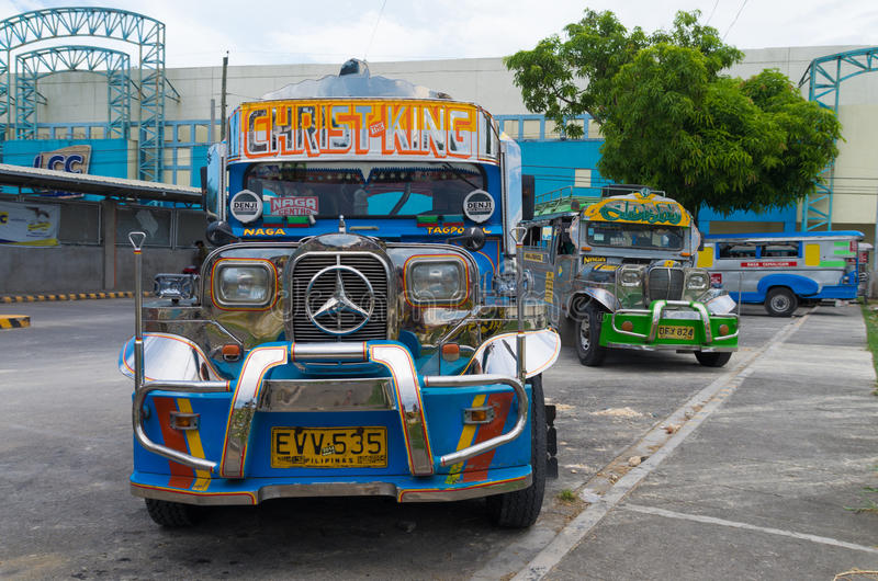 Colorful jeepney stock photography