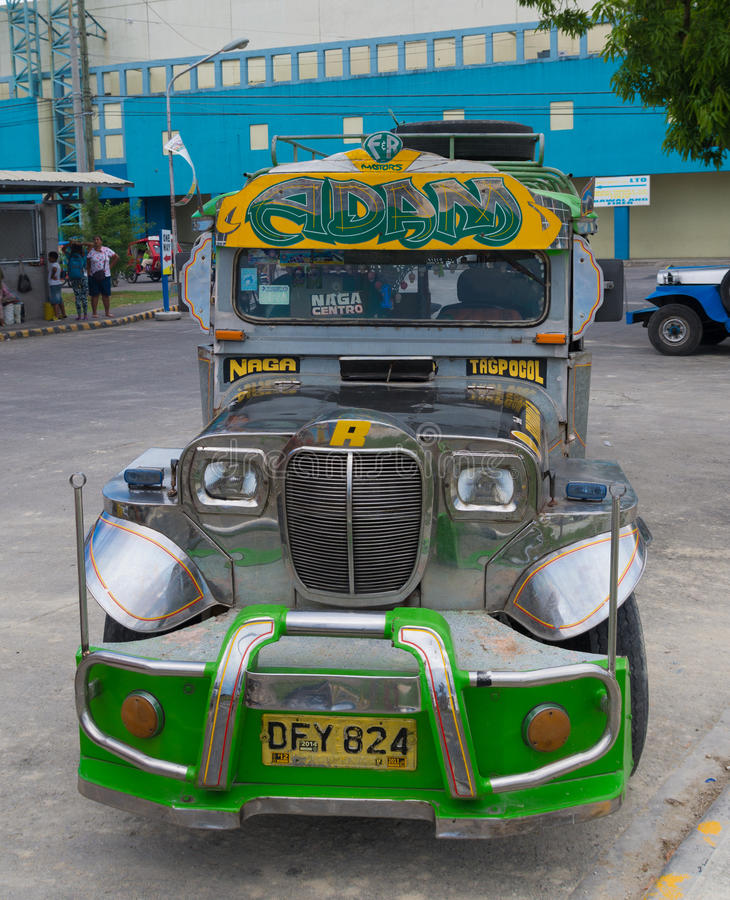 Colorful jeepney stock photos