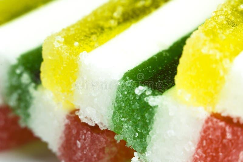 Colorful jello slice stock photo