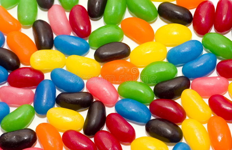 Colorful Jelly Beans royalty free stock image