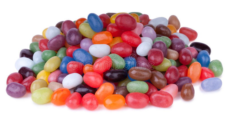 Colorful jelly beans royalty free stock images