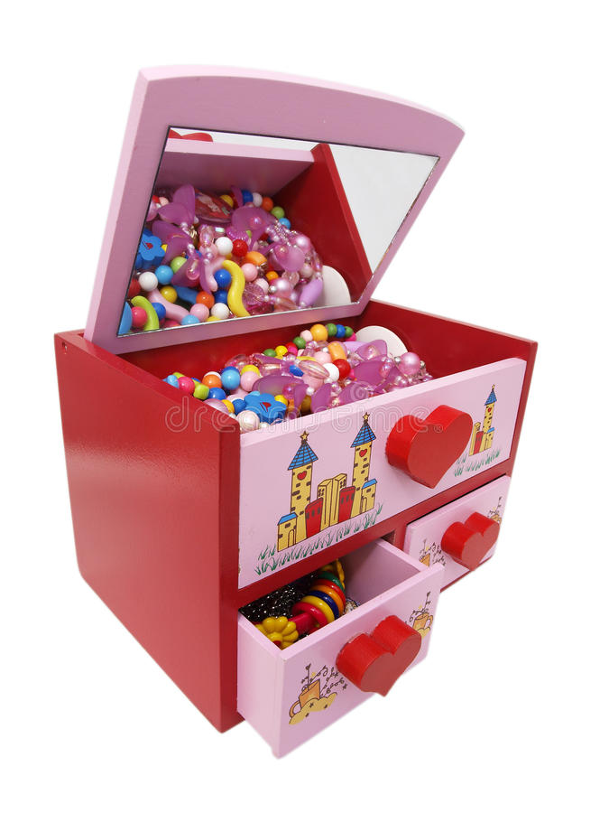 Colorful Jewelry Box For Kids Stock Photo Image of isolated